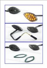 LED indicators fairing Honda CBR 600 CBR1000 smoked  6S